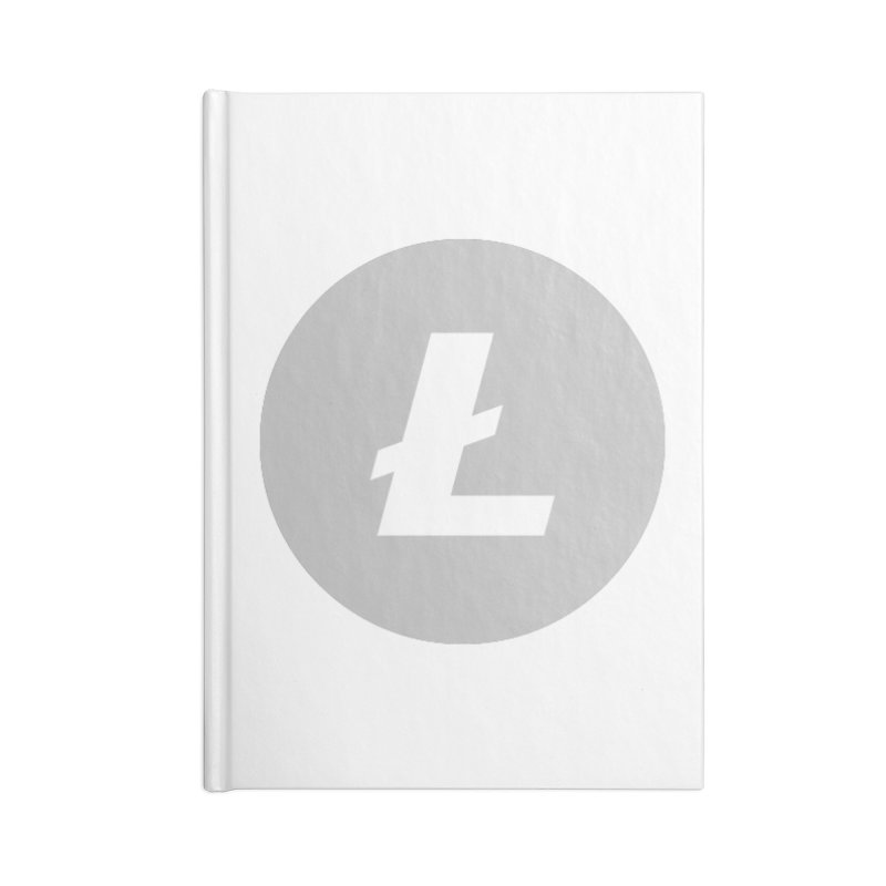 Litecoin Accessories Lined Journal Notebook by Crypt0 Clothing Shop