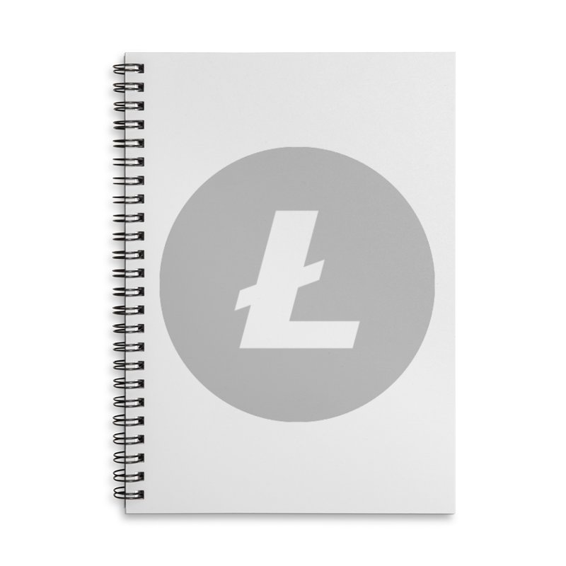 Litecoin Accessories Lined Spiral Notebook by Crypt0 Clothing Shop