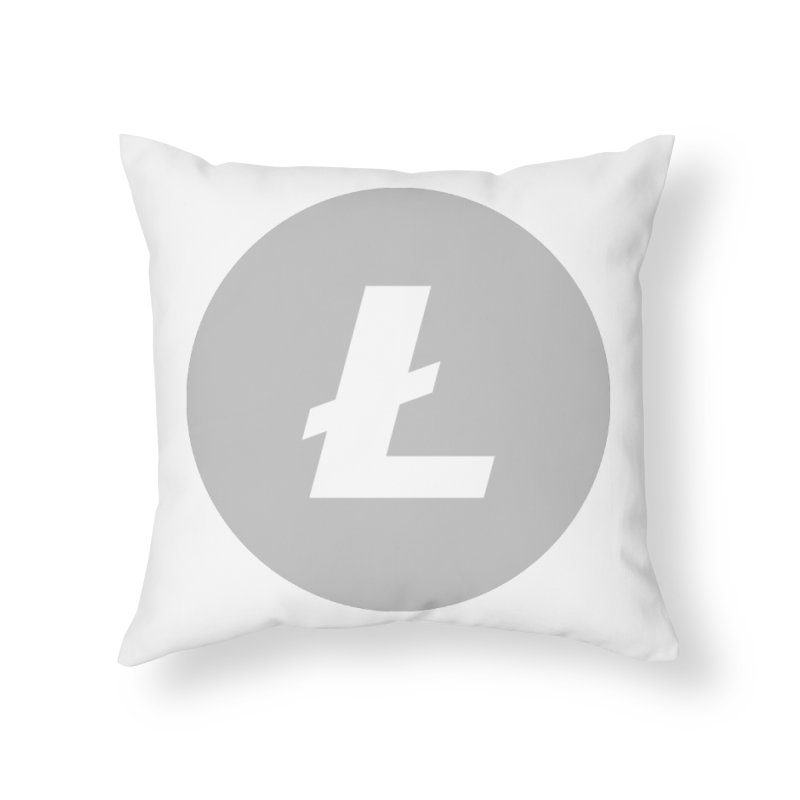 Litecoin Home Throw Pillow by Crypt0 Clothing Shop