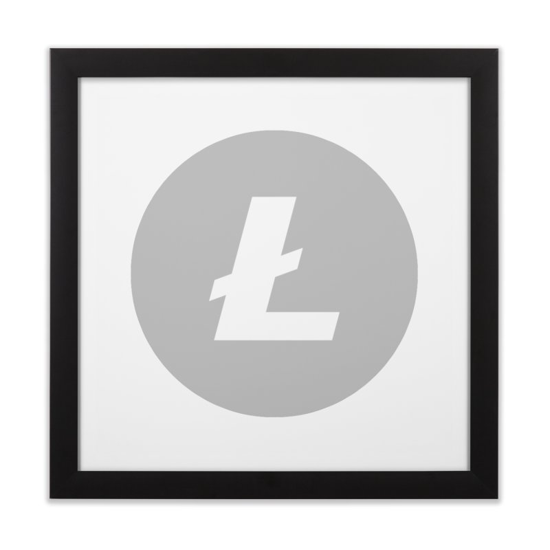 Litecoin Home Framed Fine Art Print by Crypt0 Clothing Shop