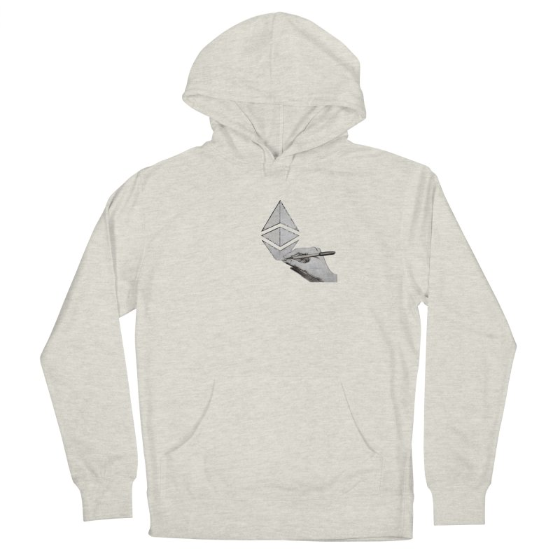 Ethereum Sketch Men's Pullover Hoody by Crypt0 Clothing Shop