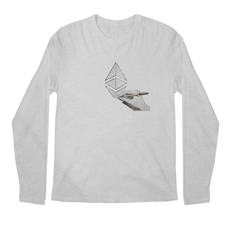 Ethereum Sketch Men's Regular Longsleeve T-Shirt by Crypt0 Clothing Shop