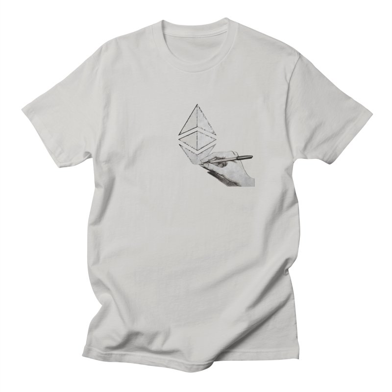 Ethereum Sketch Men's T-Shirt by Crypt0 Clothing Shop