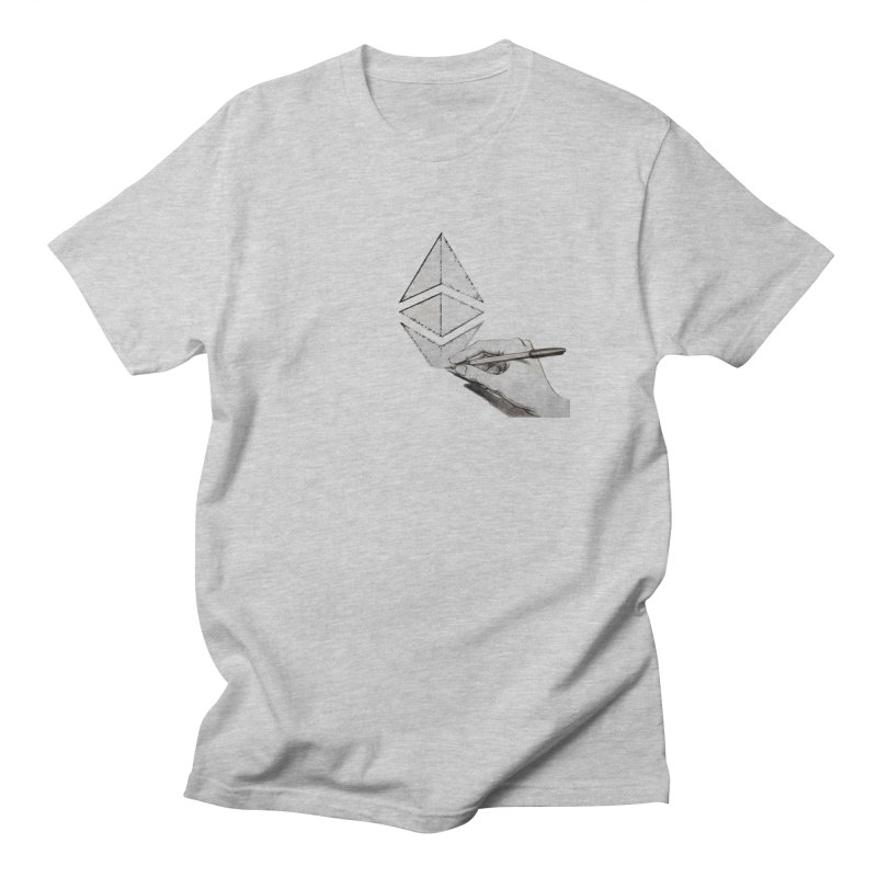 Ethereum Sketch Women's Regular Unisex T-Shirt by Crypt0 Clothing Shop