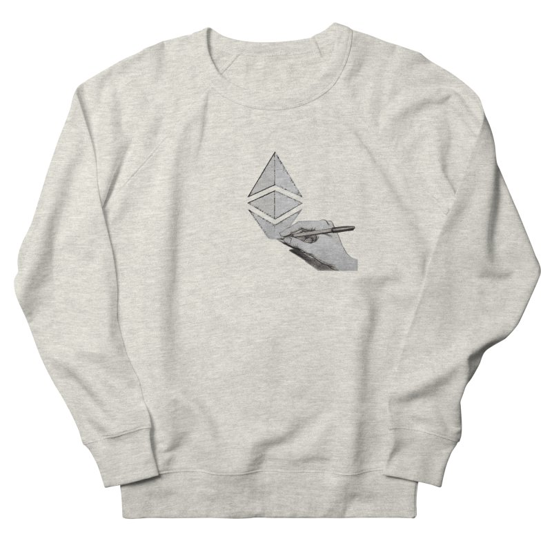 Ethereum Sketch Women's French Terry Sweatshirt by Crypt0 Clothing Shop