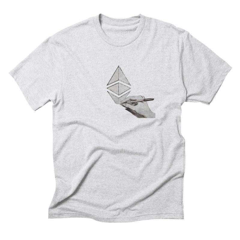 Ethereum Sketch Men's Triblend T-Shirt by Crypt0 Clothing Shop