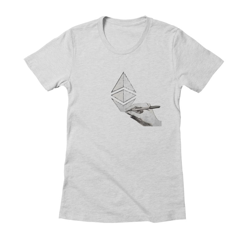 Ethereum Sketch Women's T-Shirt by Crypt0 Clothing Shop