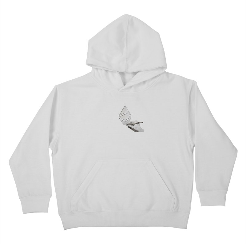 Ethereum Sketch Kids Pullover Hoody by Crypt0 Clothing Shop
