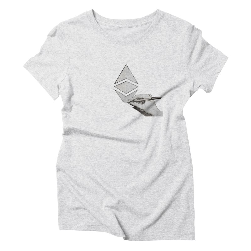 Ethereum Sketch Women's Triblend T-Shirt by Crypt0 Clothing Shop