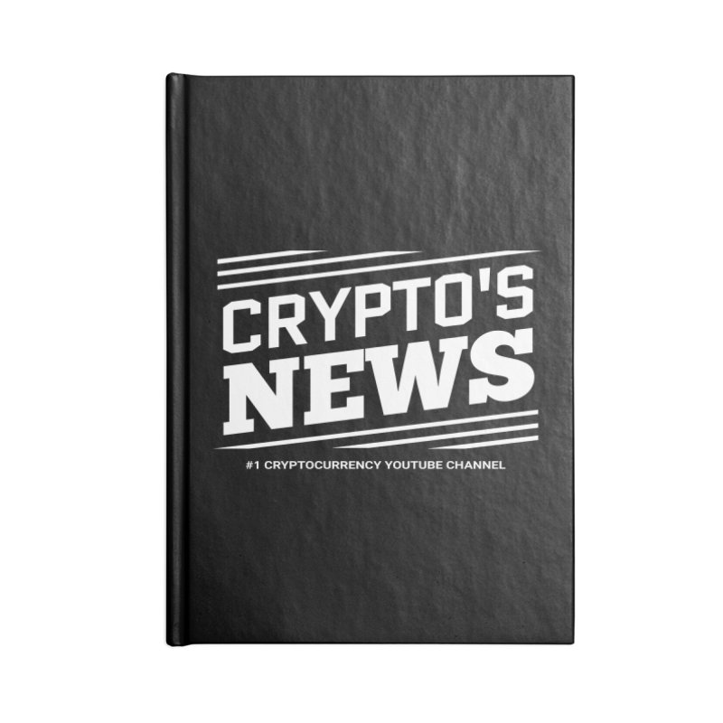 Crypt0's News Accessories Blank Journal Notebook by Crypt0 Clothing Shop