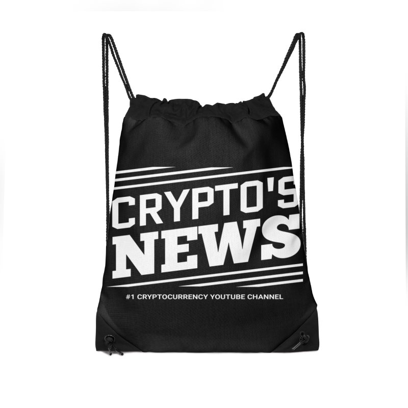 Crypt0's News Accessories Drawstring Bag Bag by Crypt0 Clothing Shop
