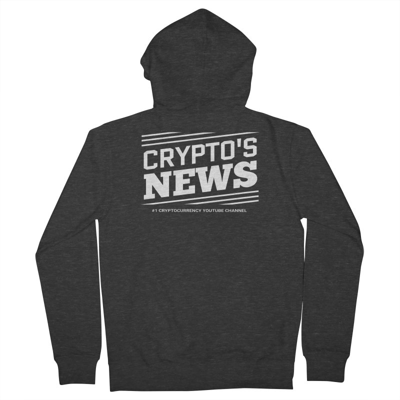 Crypt0's News Women's French Terry Zip-Up Hoody by Crypt0 Clothing Shop
