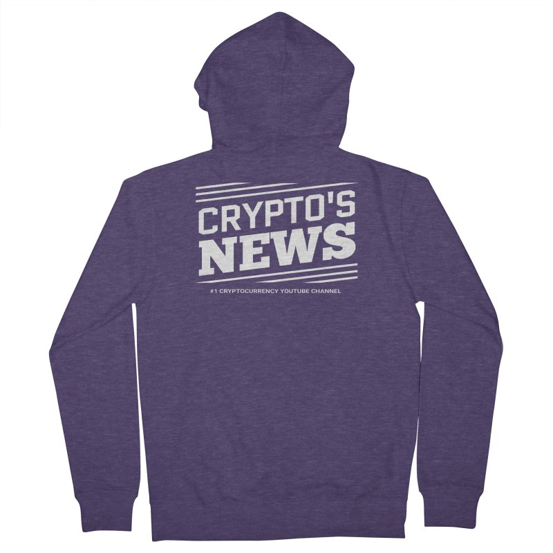 Crypt0's News Men's French Terry Zip-Up Hoody by Crypt0 Clothing Shop