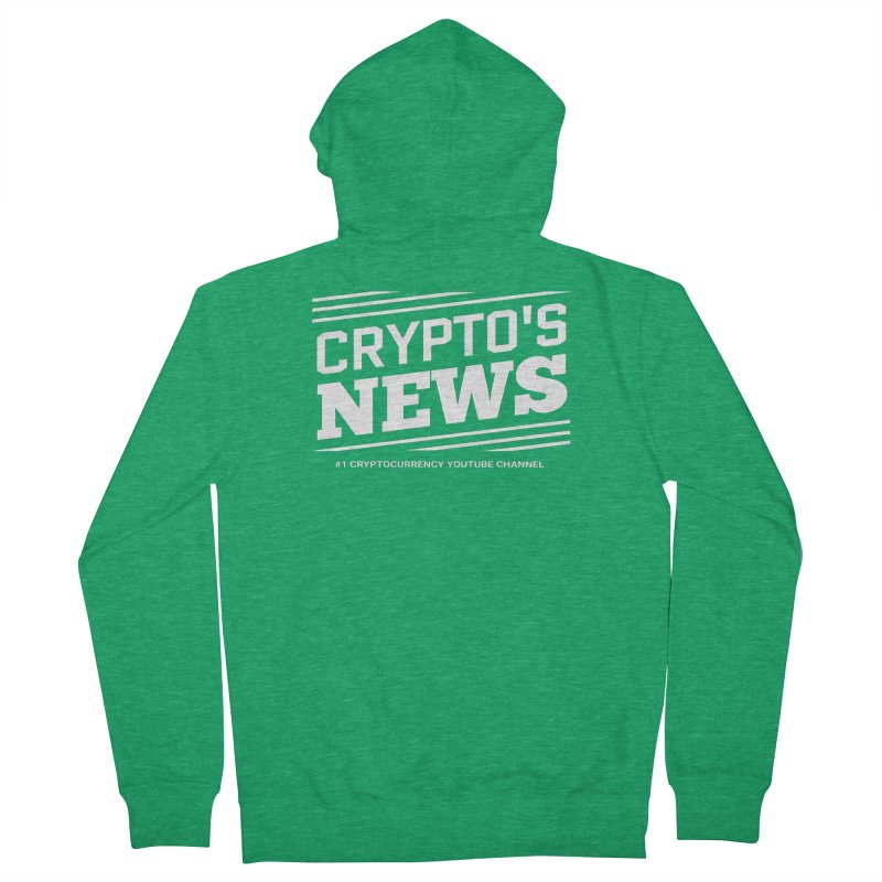 Crypt0's News Men's Zip-Up Hoody by Crypt0 Clothing Shop