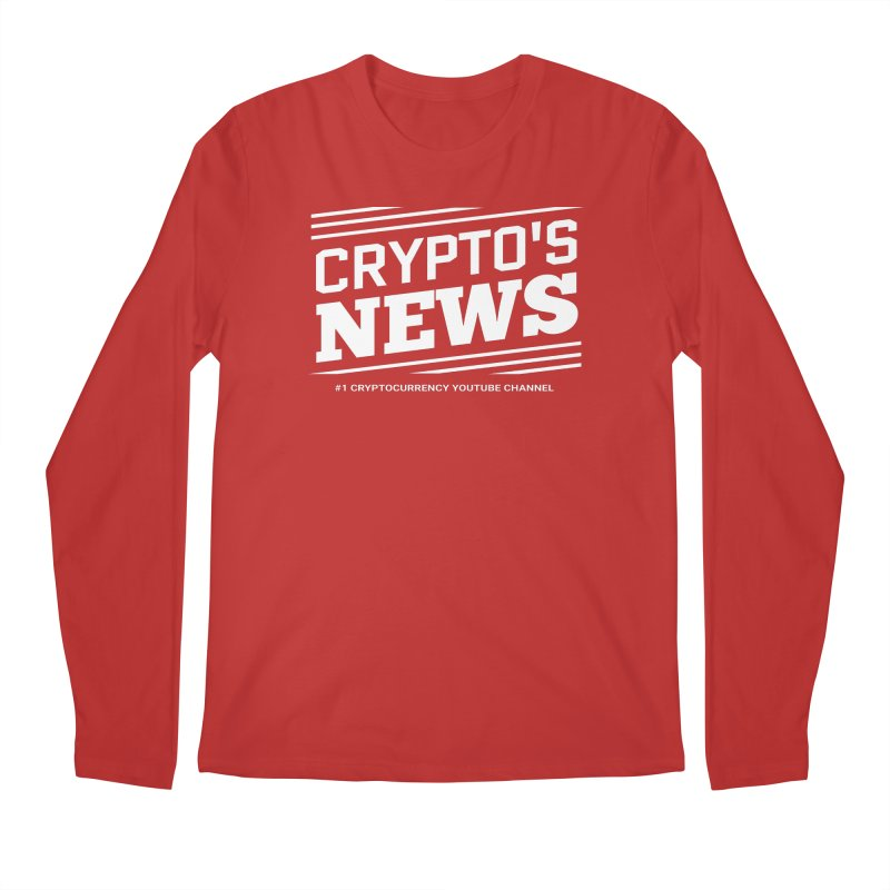 Crypt0's News Men's Regular Longsleeve T-Shirt by Crypt0 Clothing Shop