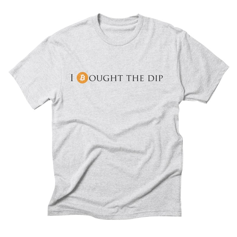 I Bought The BTC Dip Men's Triblend T-Shirt by Crypt0 Clothing Shop