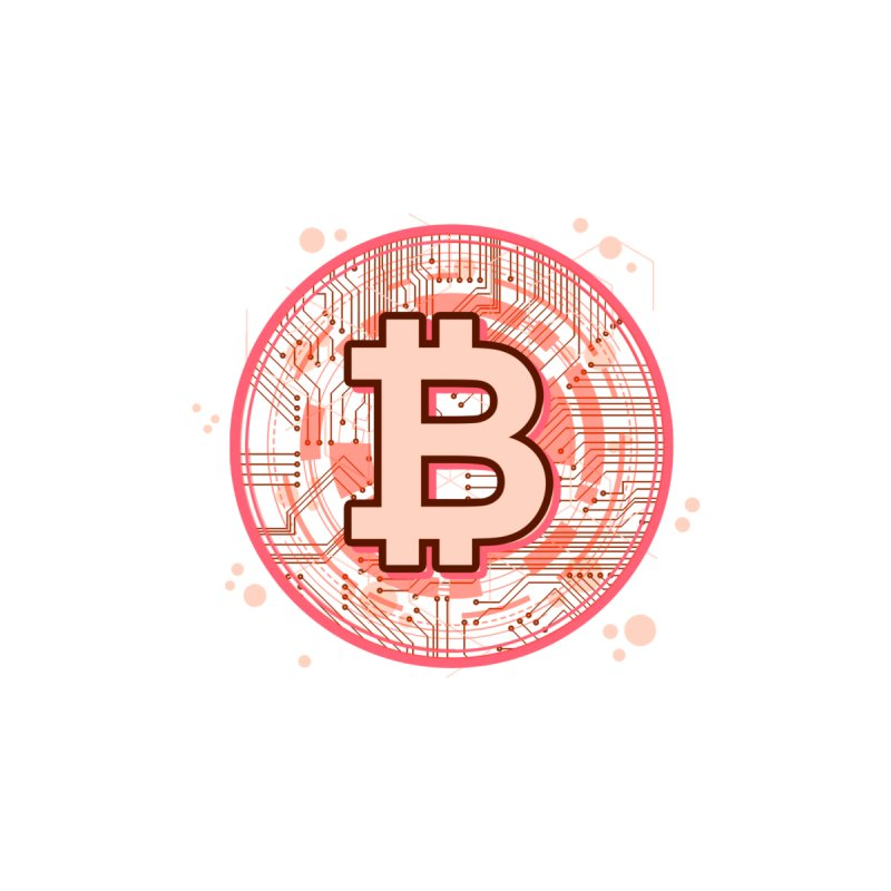 Bitcoin Red by Crypt0 Clothing Shop