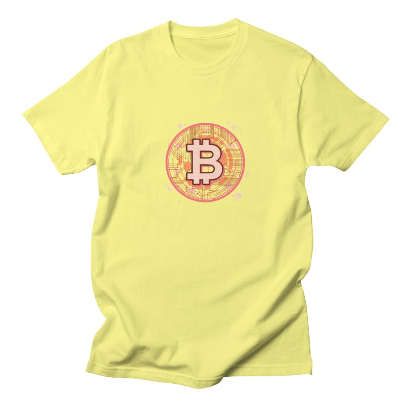 Bitcoin Red Men's T-Shirt by Crypt0 Clothing Shop