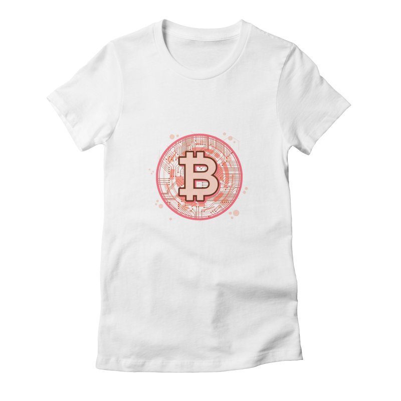 Bitcoin Red Women's T-Shirt by Crypt0 Clothing Shop