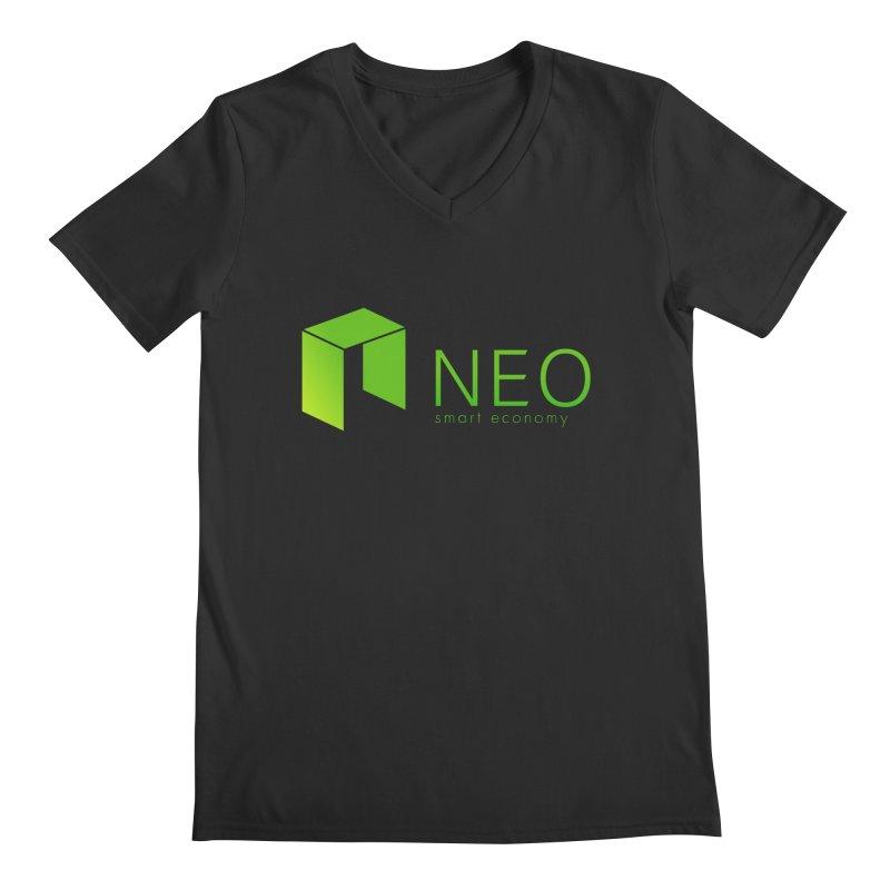 Neo Smart Economy Men's Regular V-Neck by cryptapparel's Artist Shop