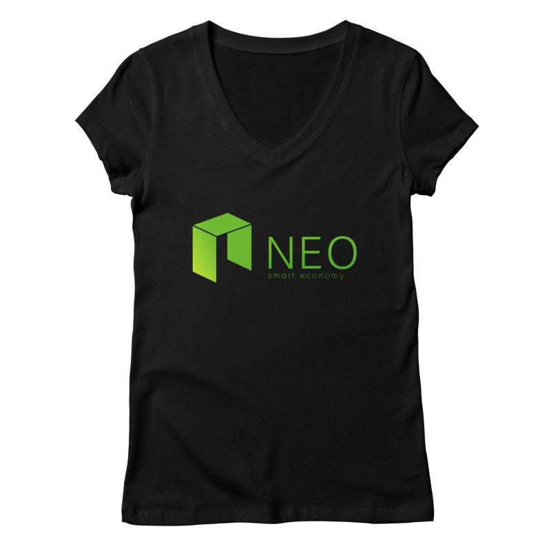Neo Smart Economy Women's V-Neck by cryptapparel's Artist Shop
