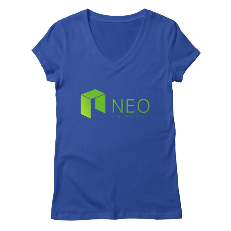 Neo Smart Economy Women's Regular V-Neck by cryptapparel's Artist Shop