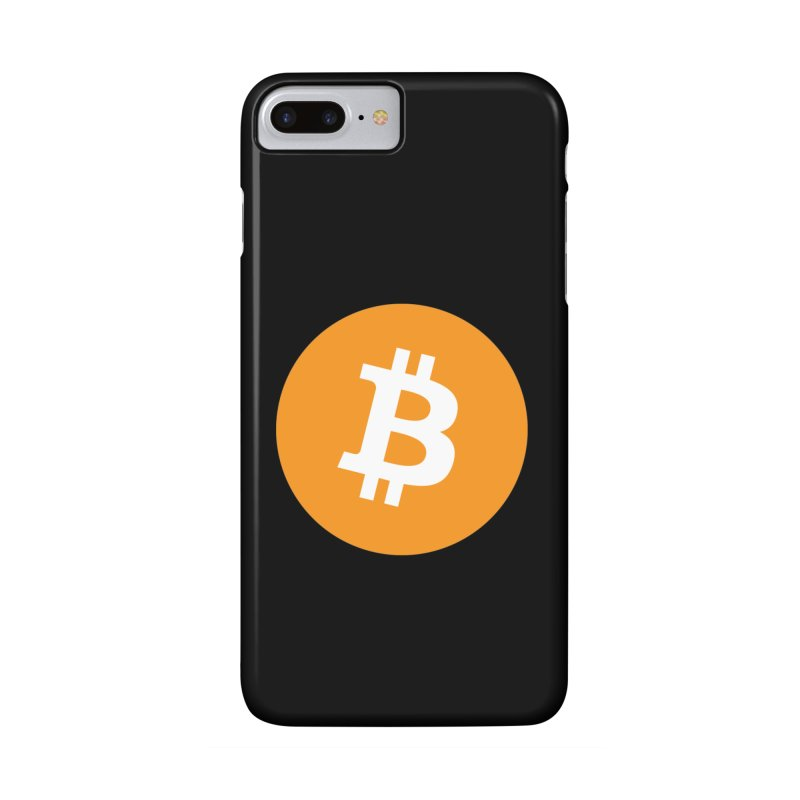 Bitcoin black in iPhone 7 Plus Phone Case Slim by https://crypto.menu