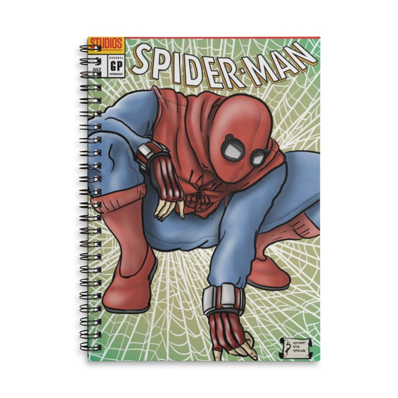 Spider-man: Homecoming Cover Swipe Accessories Lined Spiral Notebook by cryptopop's Artist Shop