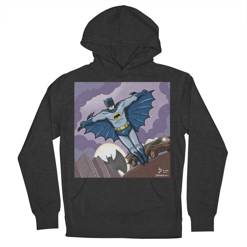 Adam West Batman Women's French Terry Pullover Hoody by cryptopop's Artist Shop
