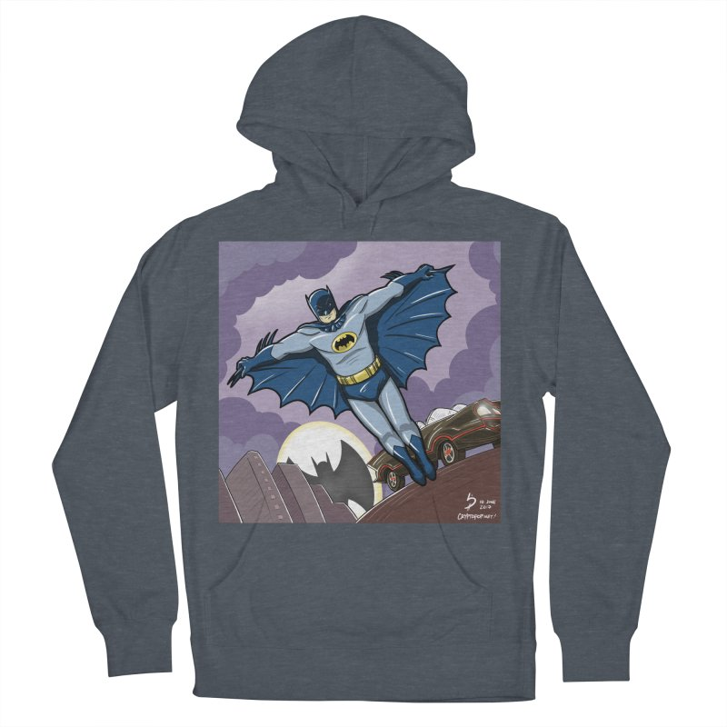 Adam West Batman Men's French Terry Pullover Hoody by cryptopop's Artist Shop