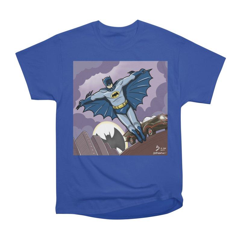 Adam West Batman Women's Heavyweight Unisex T-Shirt by cryptopop's Artist Shop