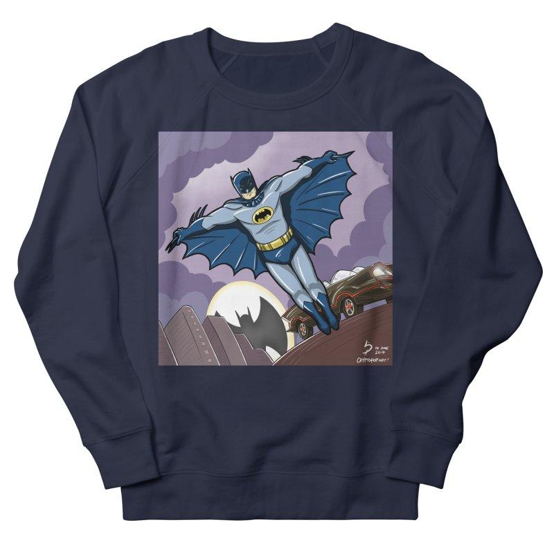 Adam West Batman Men's French Terry Sweatshirt by cryptopop's Artist Shop