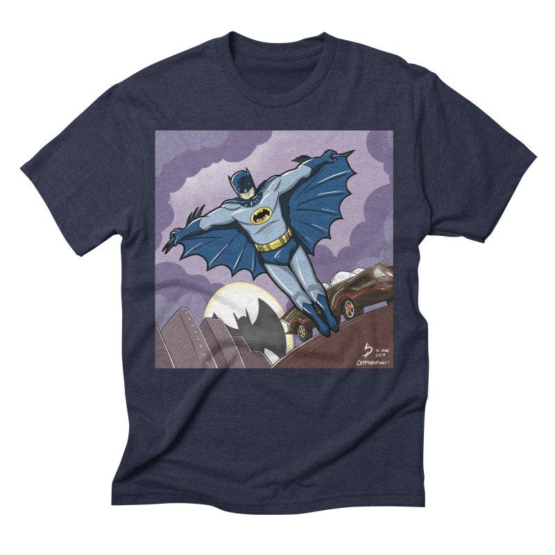 Adam West Batman Men's Triblend T-Shirt by cryptopop's Artist Shop
