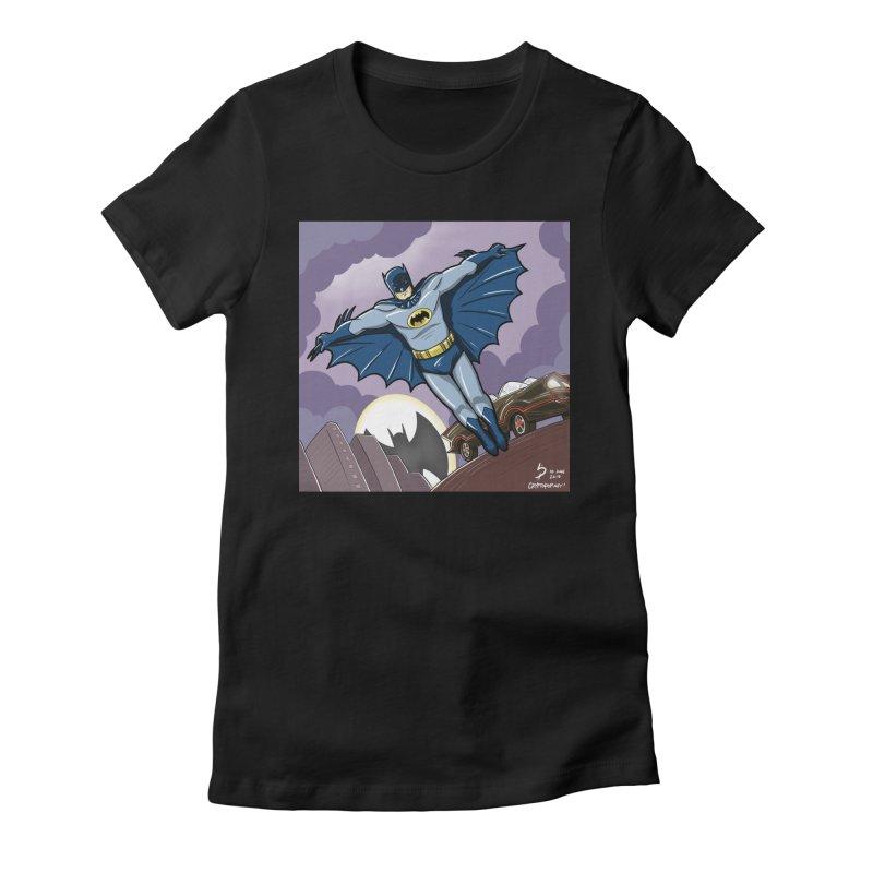 Adam West Batman Women's Fitted T-Shirt by cryptopop's Artist Shop