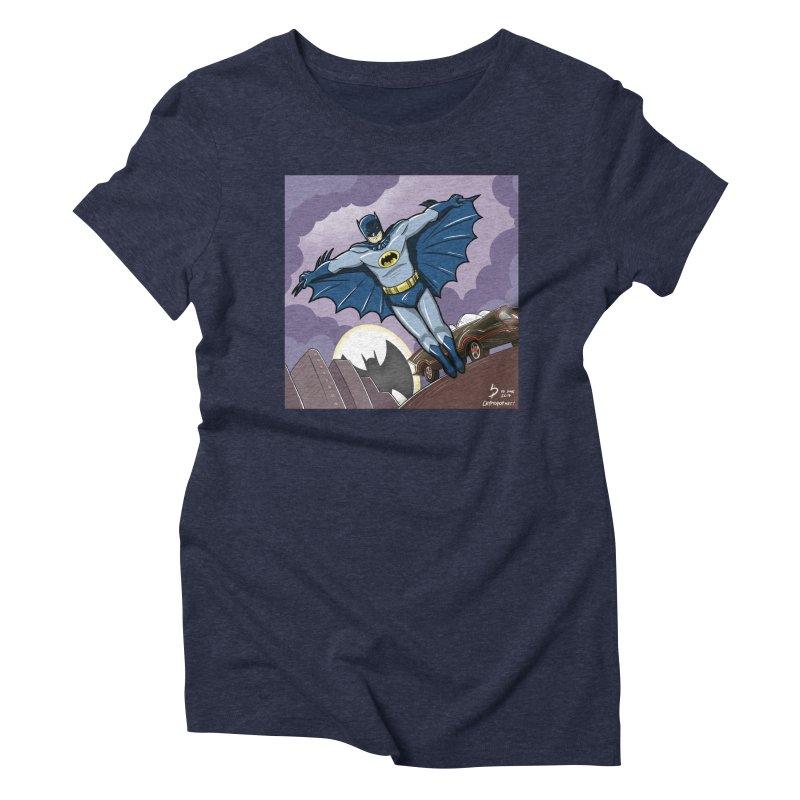 Adam West Batman Women's Triblend T-Shirt by cryptopop's Artist Shop