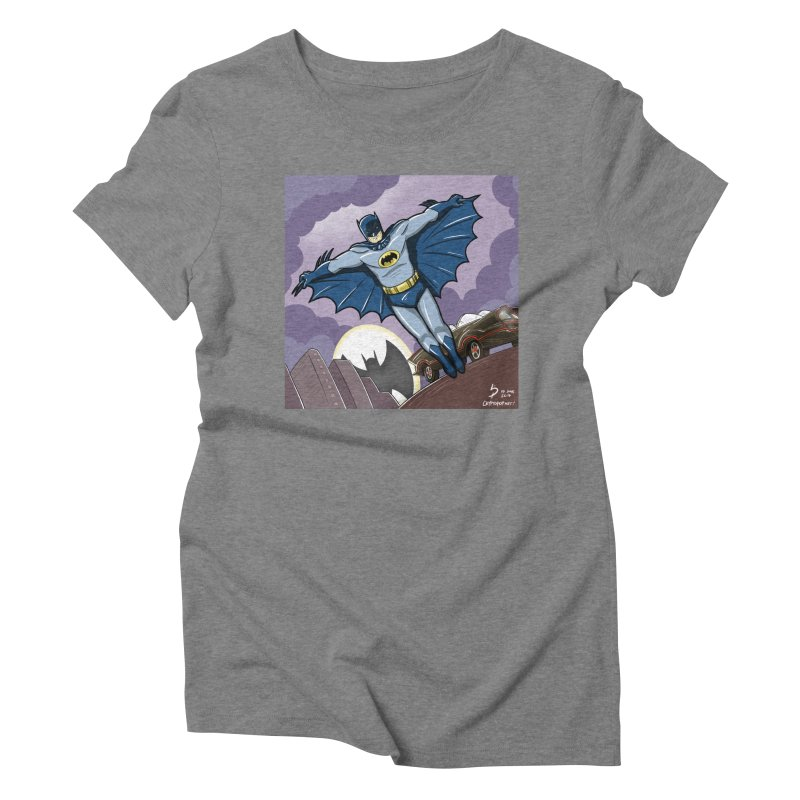 Adam West Batman Women's Triblend T-Shirt by cryptopop's Artist Shop