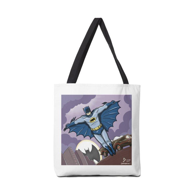 Adam West Batman Accessories Tote Bag Bag by cryptopop's Artist Shop