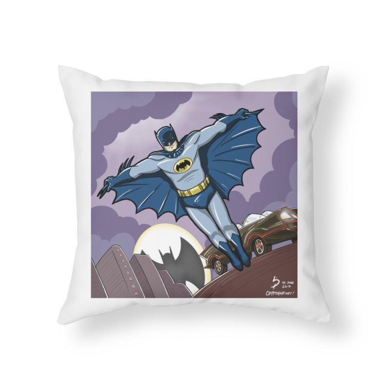 Adam West Batman Home Throw Pillow by cryptopop's Artist Shop