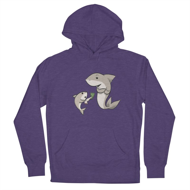 Sharks Men's French Terry Pullover Hoody by cryptopop's Artist Shop