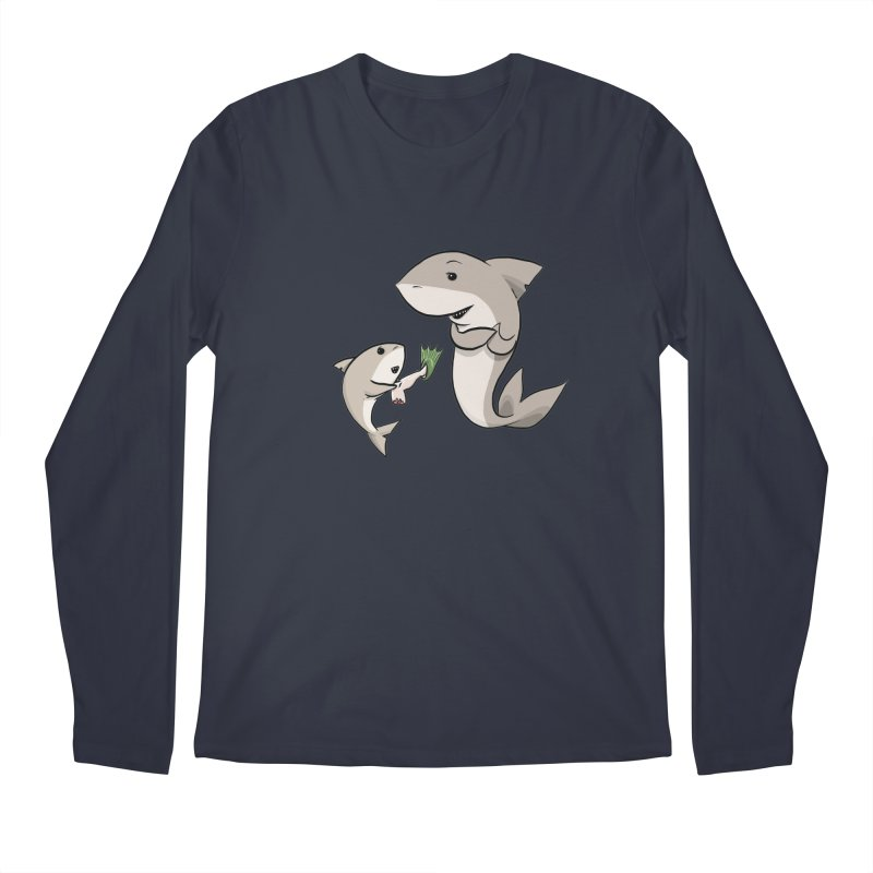 Sharks Men's Longsleeve T-Shirt by cryptopop's Artist Shop