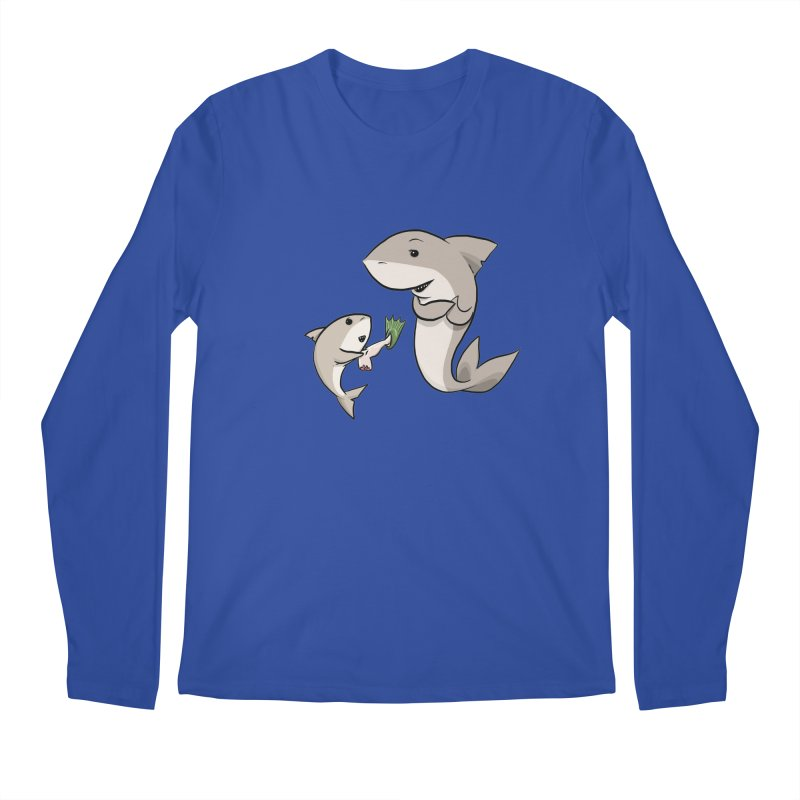 Sharks Men's Regular Longsleeve T-Shirt by cryptopop's Artist Shop