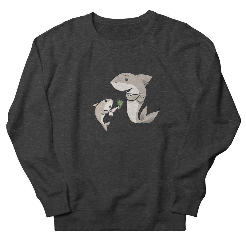 Sharks Women's French Terry Sweatshirt by cryptopop's Artist Shop