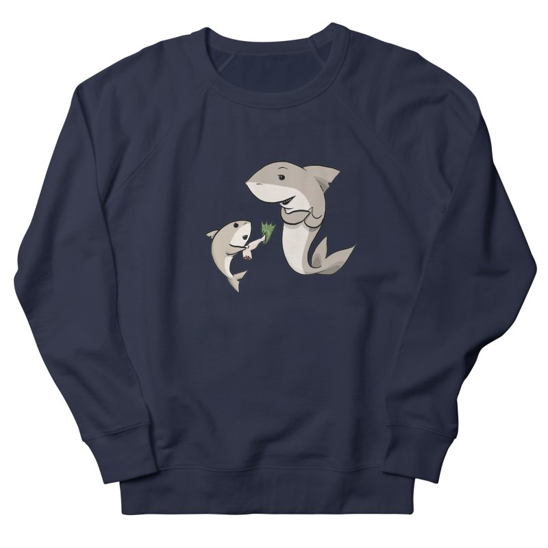 Sharks Men's French Terry Sweatshirt by cryptopop's Artist Shop