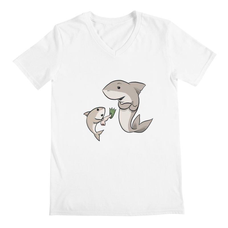 Sharks Men's V-Neck by cryptopop's Artist Shop