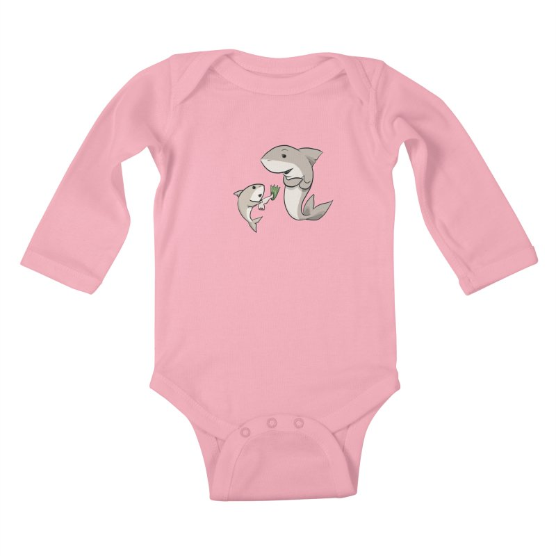 Sharks Kids Baby Longsleeve Bodysuit by cryptopop's Artist Shop