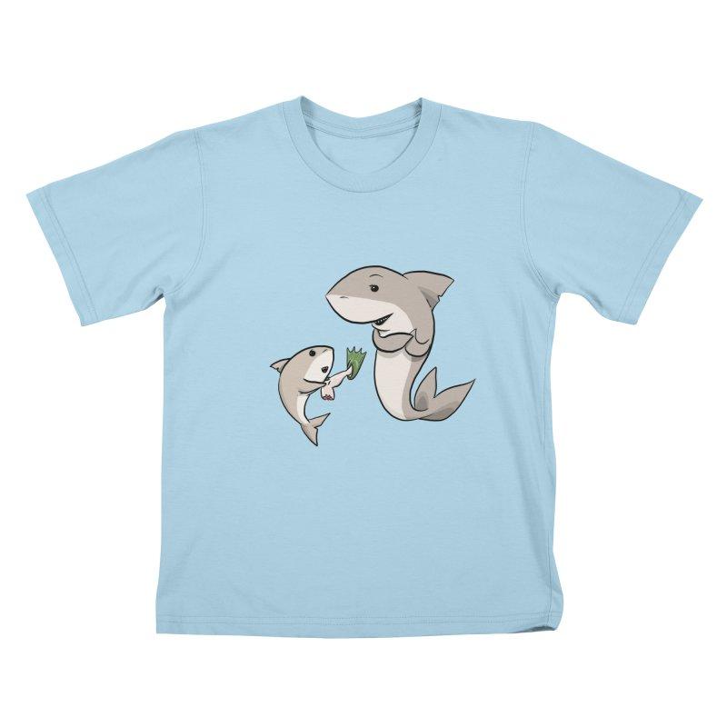 Sharks Kids T-Shirt by cryptopop's Artist Shop
