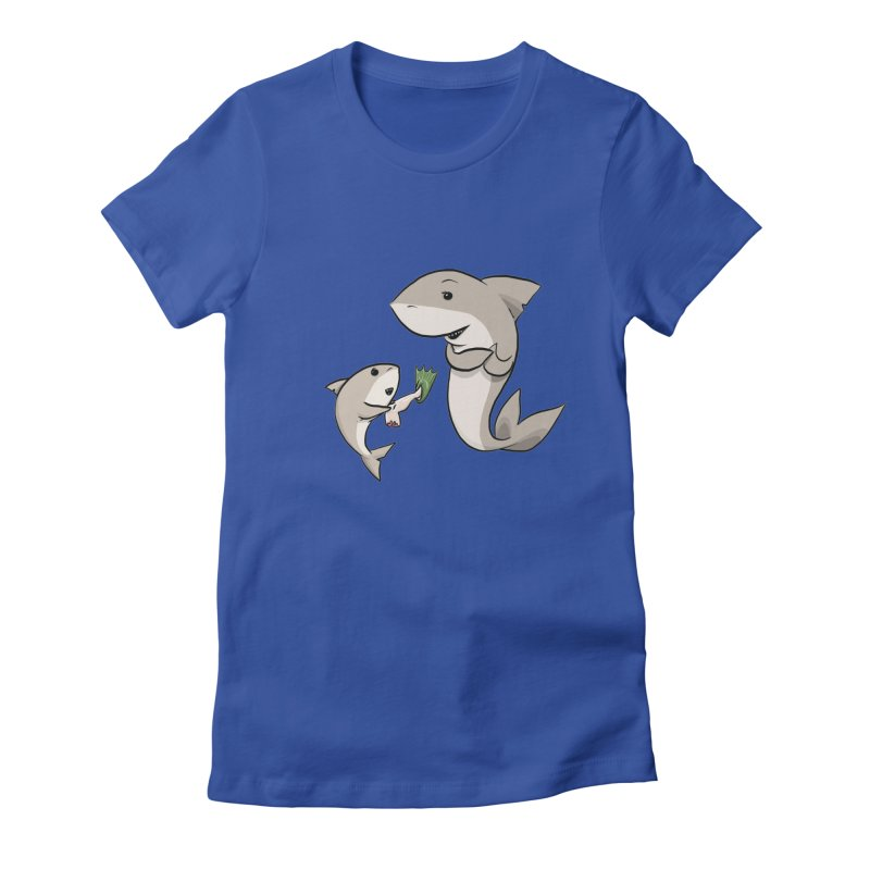 Sharks Women's Fitted T-Shirt by cryptopop's Artist Shop