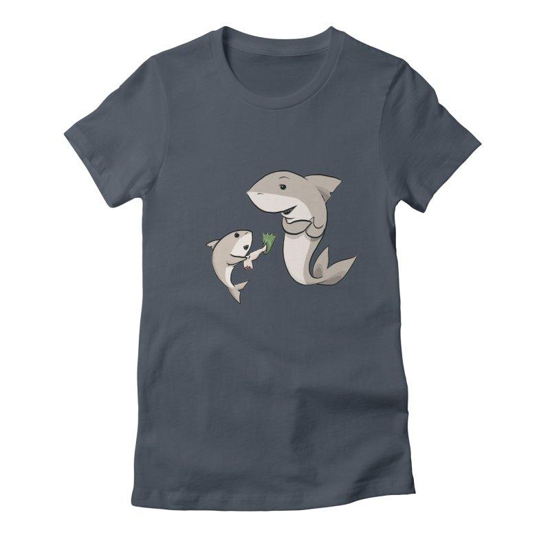 Sharks Women's T-Shirt by cryptopop's Artist Shop