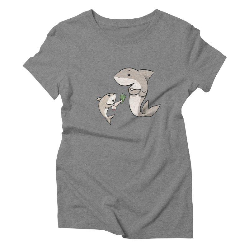 Sharks Women's Triblend T-Shirt by cryptopop's Artist Shop