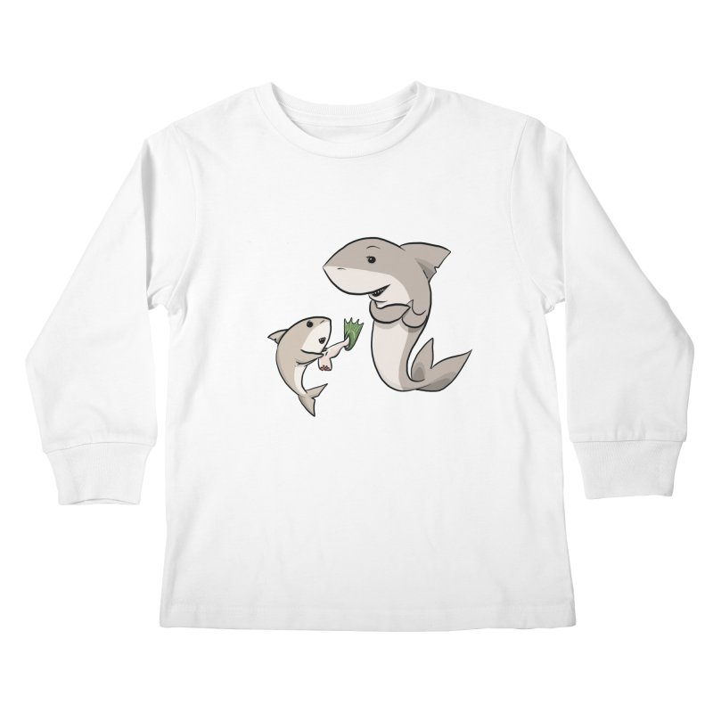 Sharks Kids Longsleeve T-Shirt by cryptopop's Artist Shop